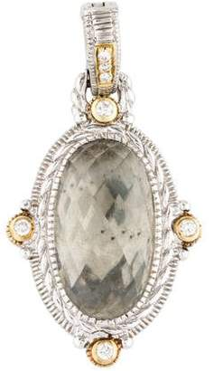 Judith Ripka Prasiolite & Diamond Oval Enhancer