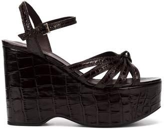 Burberry knot detail platform sandals