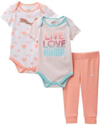 Puma Short Sleeve Bodysuits & Pants (Baby Girls)