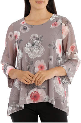 Regatta Floral Double Layer 3/4 Sleeve Top