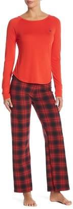Psycho Bunny Knit Plaid Lounge Pants