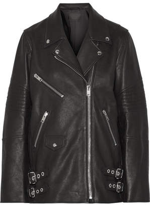 Alexander Wang Oversized Leather Biker Jacket - Black