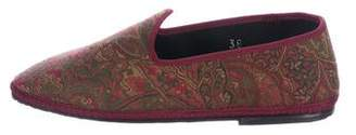 Fifi Venezia Embroidered Canvas Loafers w/ Tags