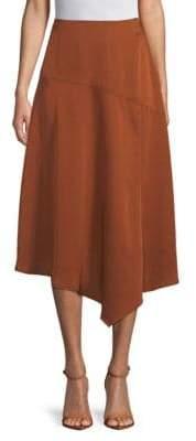 Asymmetric Hem Slip Skirt
