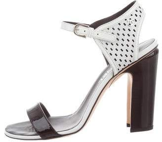 Chanel Patent Leather Ankle Strap Sandals