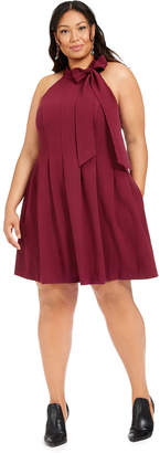 Vince Camuto Plus Size Tie-Neck Dress