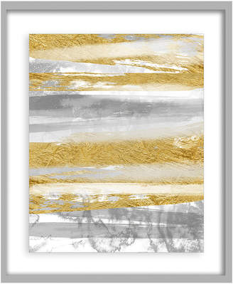 PTM Images Gold And Silver Leaf Abstract Framed Print