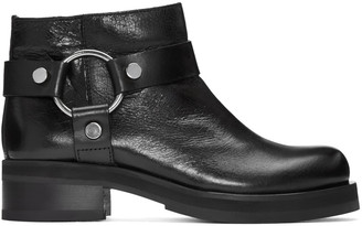 McQ Alexander McQueen Black Harness Broadway Boots $540 thestylecure.com