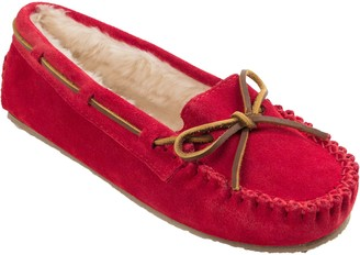 Minnetonka Women's Cally Red Moc Slippers
