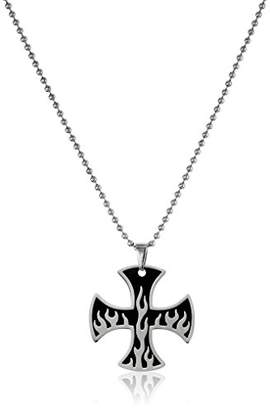 Cold Steel Men's Stainless Steel Cross Pendant Necklace
