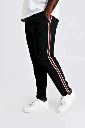 boohoo Big & Tall Skinny Fit Woven Side Tape Jogger