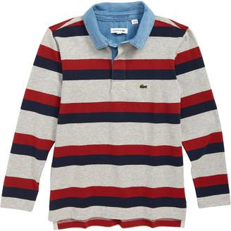 Lacoste Stripe Rugby Polo Shirt