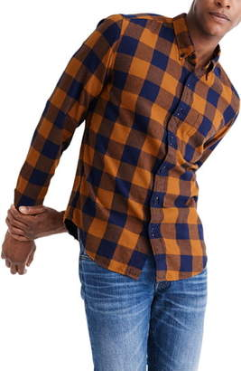 Madewell Buffalo Check Lightweight Flannel Button-Down Shirt