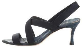 Manolo Blahnik Elastic Multistrap Sandals