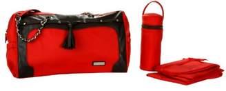 Kalencom Fashion Diaper Bag, Changing Bag, Nappy Bag, Mommy Bag (Pippen Red/Chocolate)