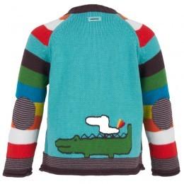 Catimini Colour Block Knit Cardigan