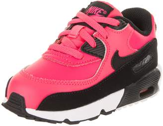Nike Toddlers Air Max 90 LTR (TD) Racer Pink/Black White Running Shoe 5 Infants US
