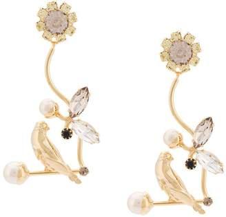 Erdem Bird filigree earrings