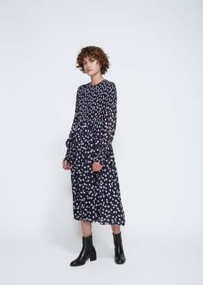 Ganni Long Sleeve Rometty Georgette Dress