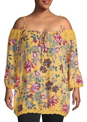 Romantic Gypsy Women's Plus Size Floral Blouse