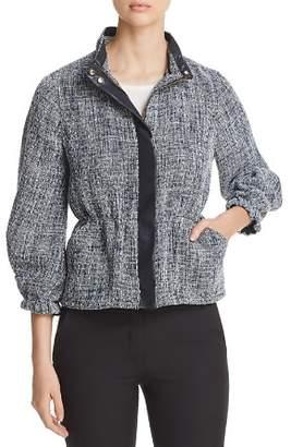 Donna Karan Textured Zip Jacket