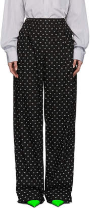 Balenciaga Black Oversized Digital Lounge Pants