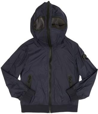 AI Riders On The Storm Hooded Nylon Bomber Jacket