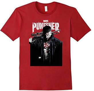 Marvel The Punisher Contrasting Graphic Portrait T-Shirt
