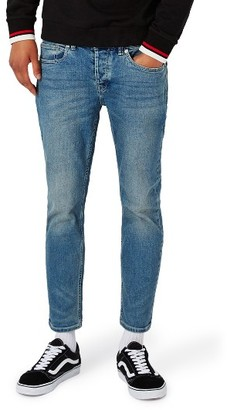 Men's Topman Stretch Slim Fit Crop Jeans $75 thestylecure.com