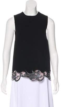 Christopher Kane Sleeveless Guipure Lace-Trimmed Top