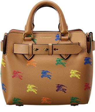 Burberry Mini Belt Bag Equestrian Knight Leather Tote