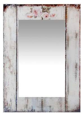 Infinity Instruments Shabby Chic Picket Fence Rectangle Wall Mirror - 19.75W x 27.5H in.