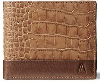 Leather Architect Men's 100% Leather RFID Blocking Classic Trifold Wallet With 12 Credit Card Slots