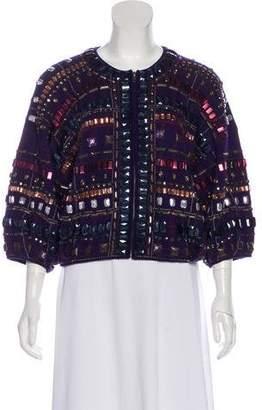 Diane von Furstenberg Embellished Wool Cardigan