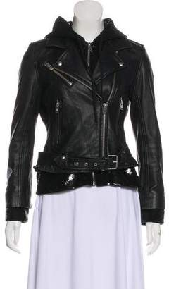 IRO Sequined Leather Jacket