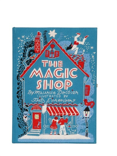 The Magic Shop Embroidered Book Clutch