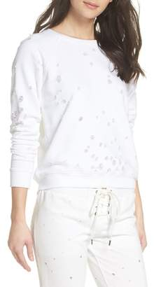 David Lerner Distressed Lounge Sweatshirt