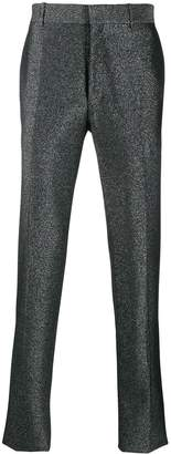 Alexander McQueen glittered tailored trousers