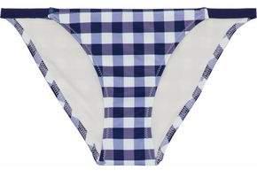 Solid & Striped Gingham Low-Rise Bikini Briefs
