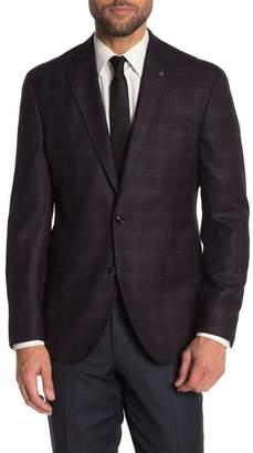 Ted Baker Plum Plaid Konan Sport Coat