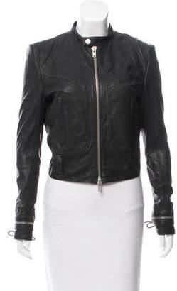 Haider Ackermann Lace-Up Leather Jacket