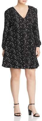Glamorous CURVY Bird Print Belted Dress