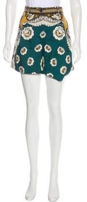 Valentino Silk High-Rise Shorts