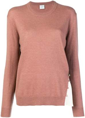 Alysi contrast insert sweater
