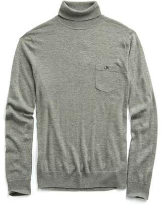 Todd Snyder Cashmere Turtleneck in Grey Heather