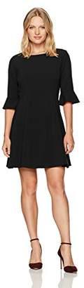 Tahari by Arthur S. Levine Women's Petite Pettite Bell Sleeve Bi Stretch Dress