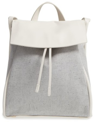Skagen Ebba Twill Backpack - Grey $195 thestylecure.com