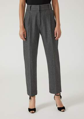 Emporio Armani Flannel Trousers With Darts