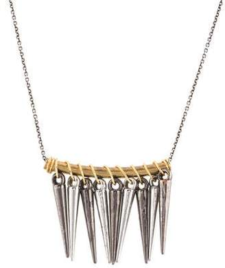Chicco Zoë Multispike Curved Bar Pendant Necklace