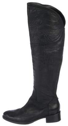 Alberto Fermani Leather Knee-High Boots Black Leather Knee-High Boots